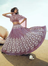 Load image into Gallery viewer, Lilac Purple Sequins Embroidered Stylish Lehenga Choli