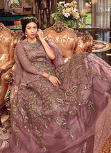 Load image into Gallery viewer, Mauve and Gold Heavy Embroidered Anarkali