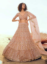 Load image into Gallery viewer, Peach Sequins Embroidered Stylish Lehenga Choli