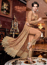 Load image into Gallery viewer, Peach and Gold Heavy Embroidered Lehenga 2