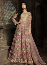 Load image into Gallery viewer, Pink Floral Embroidered Heavy Anarkali Suit
