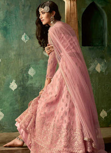 Pink and Gold Embroidered Lehenga 2