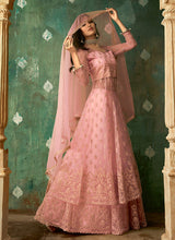 Load image into Gallery viewer, Pink and Gold Embroidered Lehenga 4