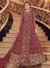 Load image into Gallery viewer, Pink and Gold Heavy Embroidered Anarkali
