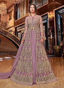 Pink and Gold Heavy Embroidered Lehenga