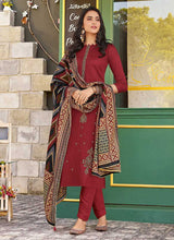 Load image into Gallery viewer, Red Violet Embroidered Straight Pant Style Suit