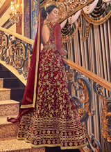 Load image into Gallery viewer, Red and Gold Heavy Embroidered Anarkali 3