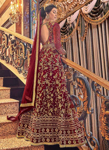 Red and Gold Heavy Embroidered Anarkali 3