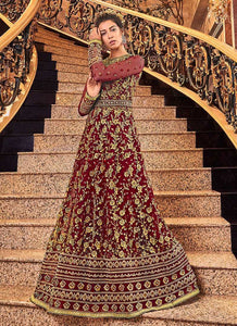 Red and Gold Heavy Embroidered Anarkali 4