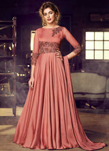Load image into Gallery viewer, Rose Gold Embroidered Anarkali Style Gown