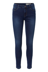 Seven Shape Up Jeans In Blue Denim