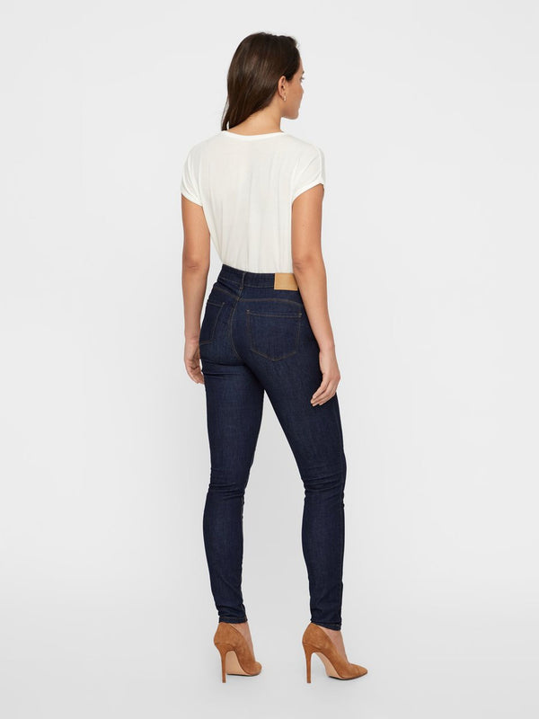 Seven Shape Up Jeans In Dark Blue Denim