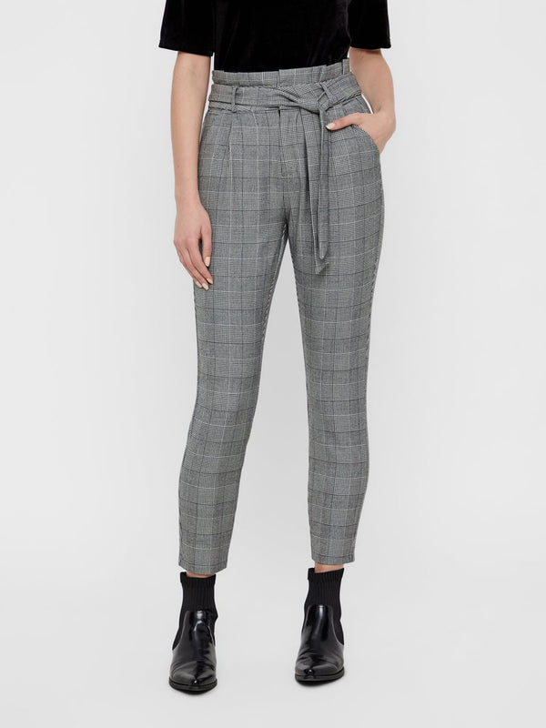 Eva High Waisted Check Trousers