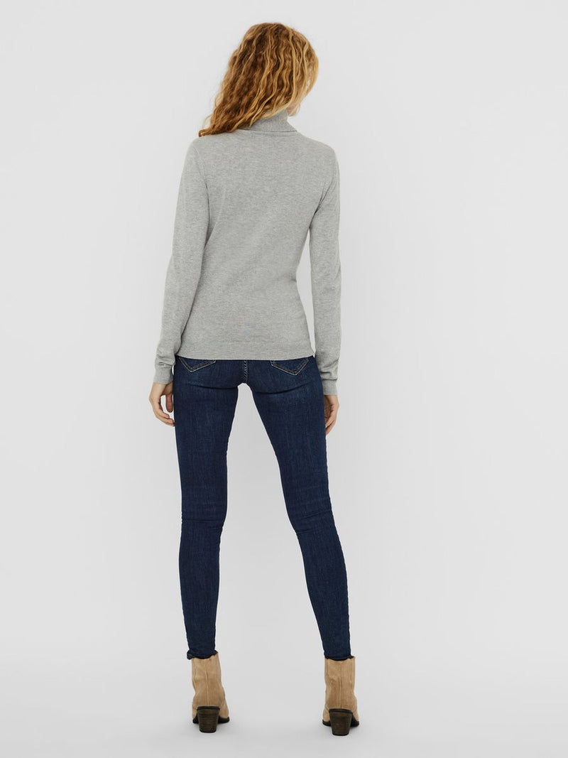 Glory High Neck Top In Grey