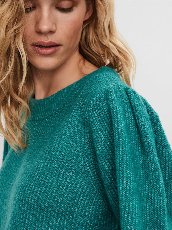 Ella Ribbed Knit In Teal