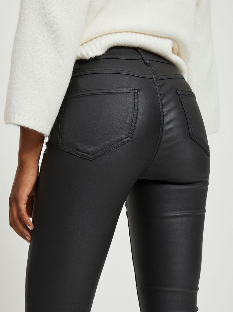 Commit Coated Black Jeans