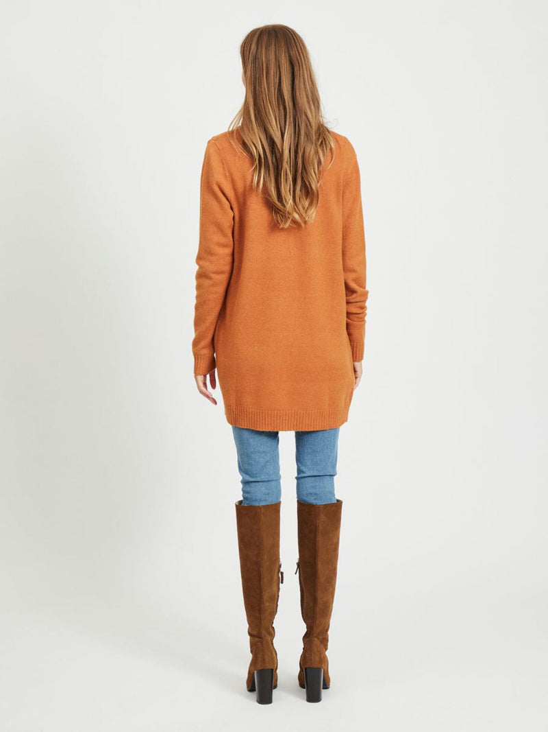 Viril Open Cardigan In Orange