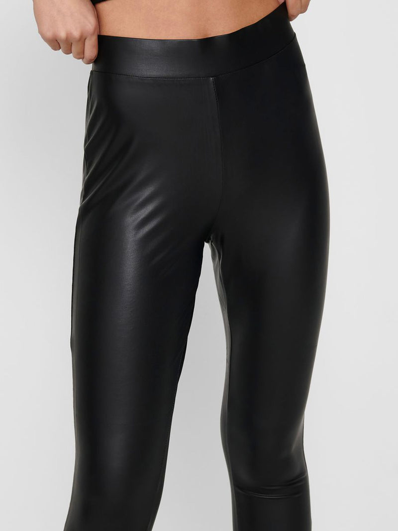 Cool Coated PU Black Leggings