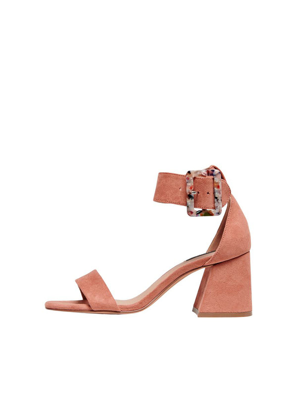 Gia Heeled Sandal In Rose Pink