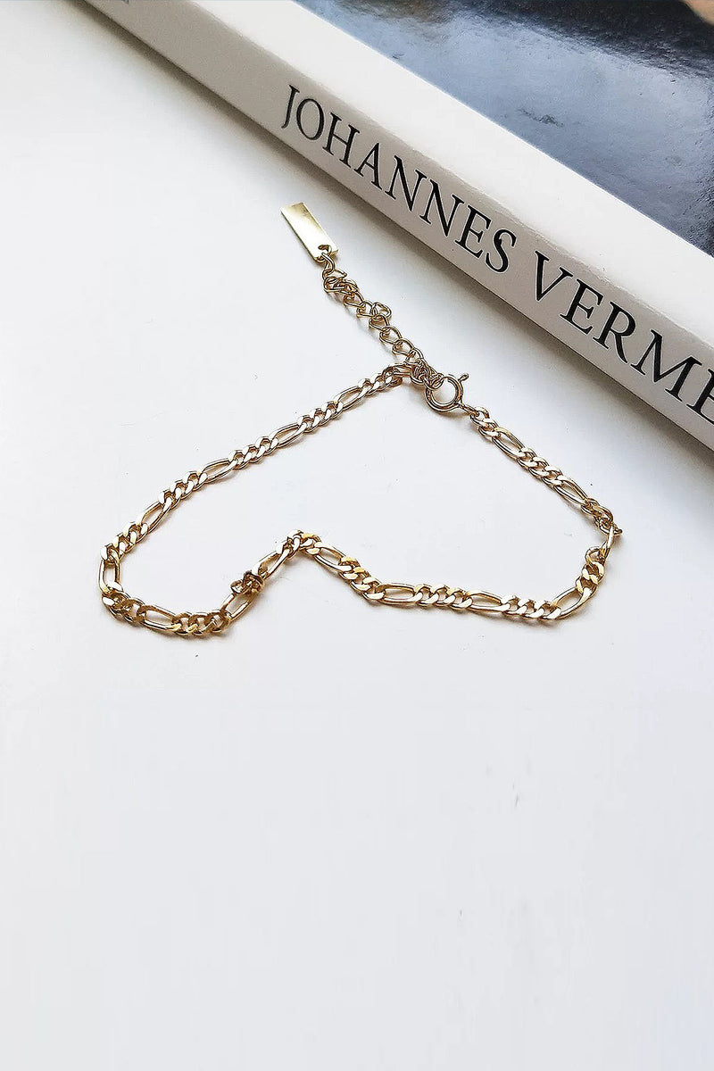 Chain Link Gold Plated Bracelet