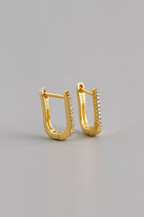 Rosie U Shaped 18 K Gold Plated Earrings