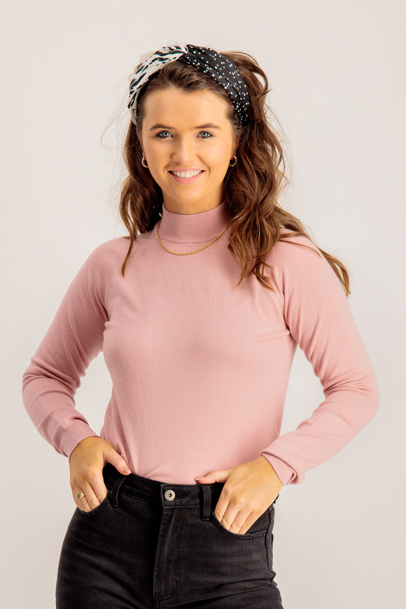 WOMENS PINK KNITTED TOP