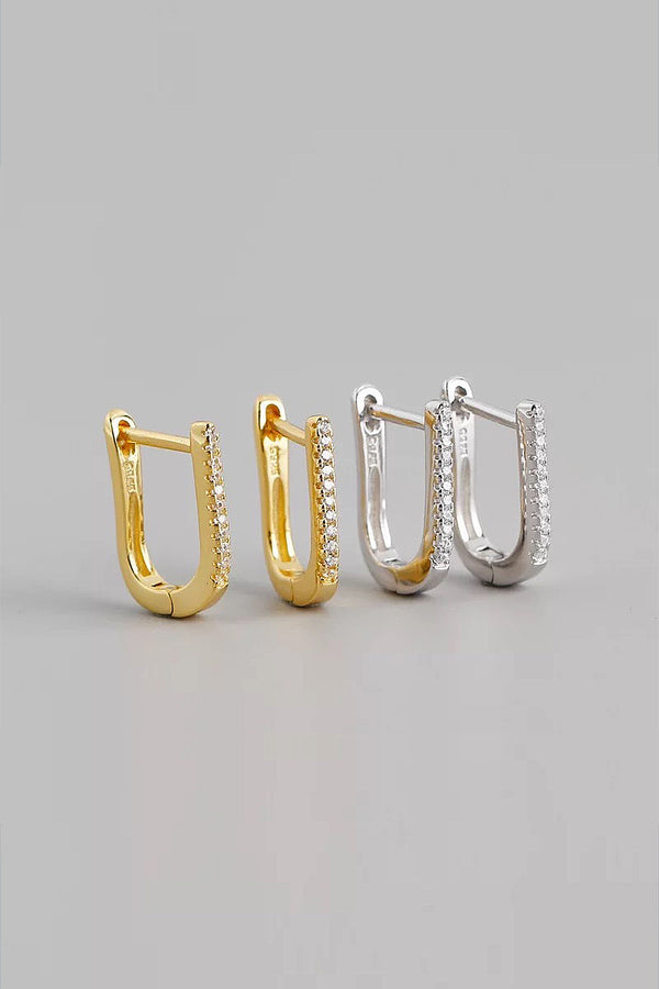 U Shaped Sterling Silver Earring