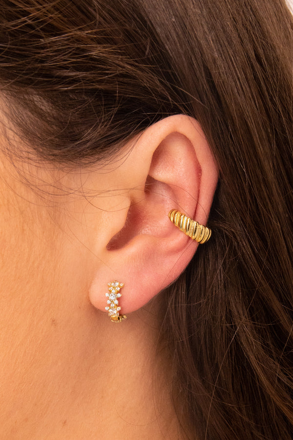 Croissant 18k Gold Plated Ear Cuff