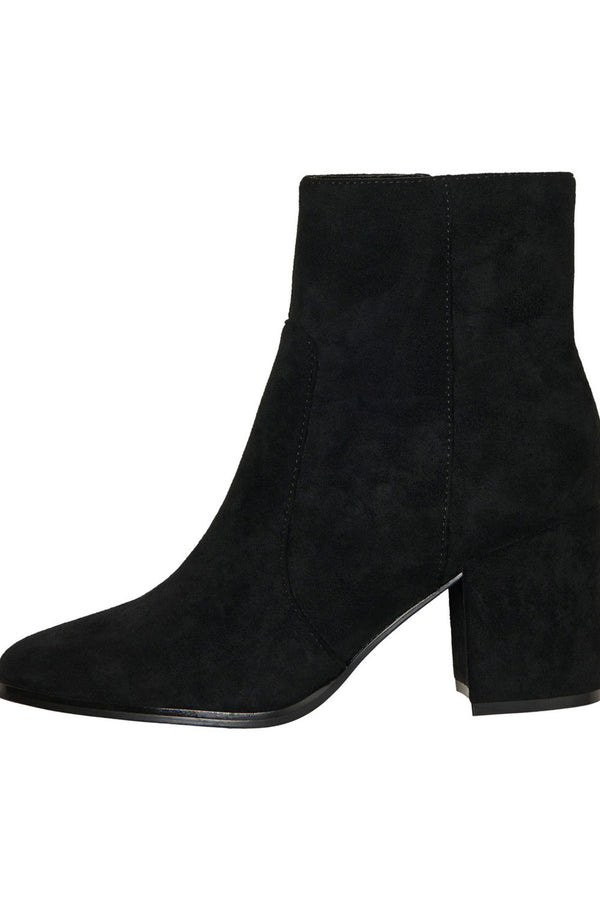 women's black boot, winter boot, black high heeled boot