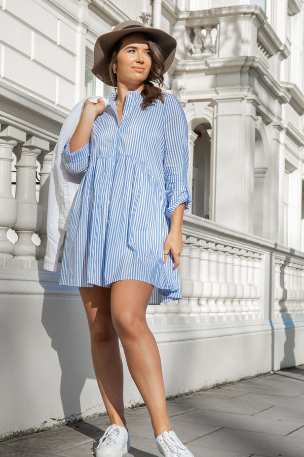 Ditte Blue Striped Dress