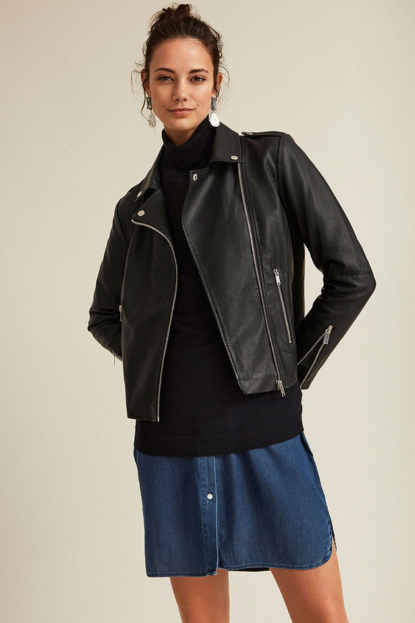 Cara Coated Black Jacket
