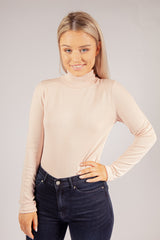 Glory High Neck Top In Pink