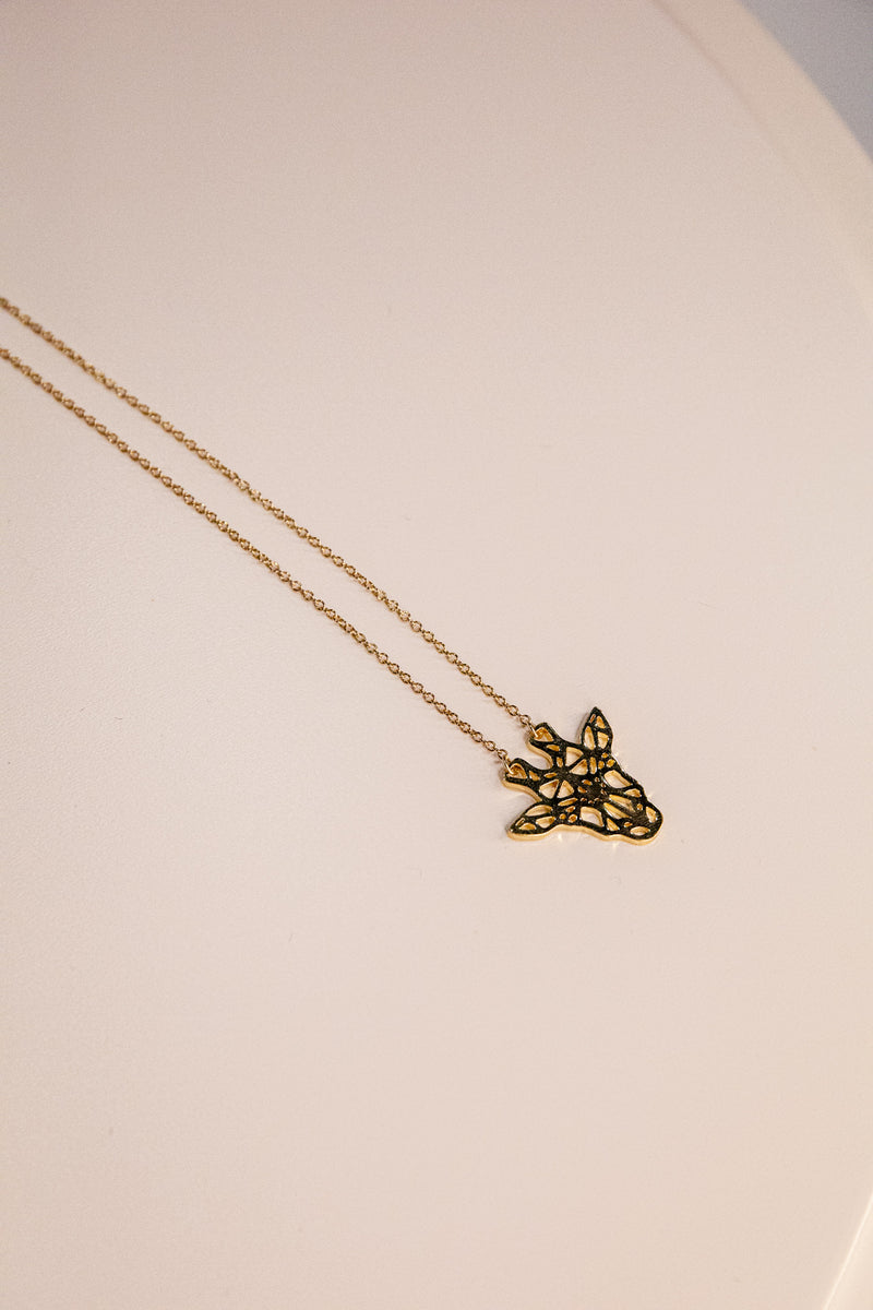 Fibby Giraffe Gold Necklace
