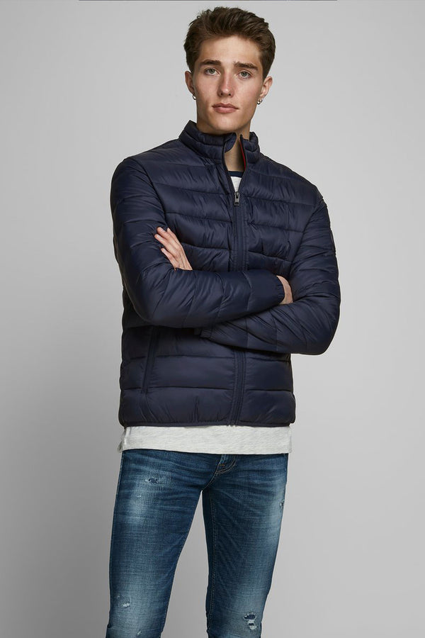 mens puffer jacket in navy