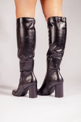 Ronja Black High Knee Boot