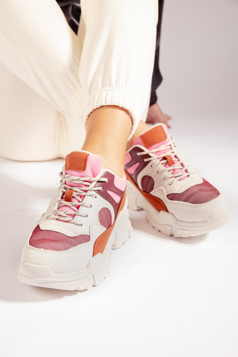 Mathilde Red Trainers