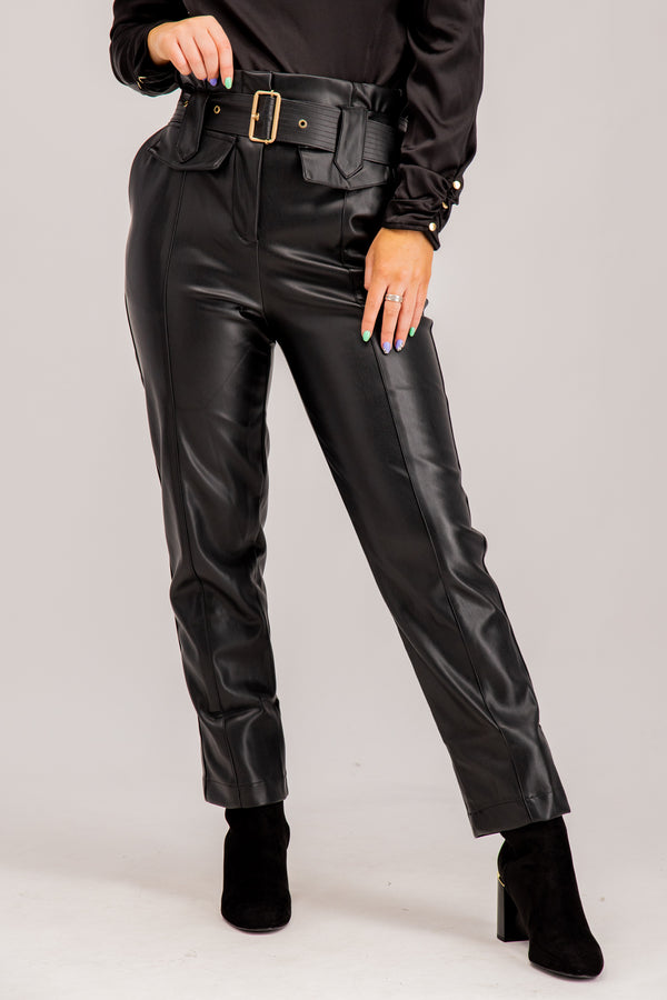 women's black high waisted pants