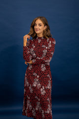 Bella Floral Midi Length Dress