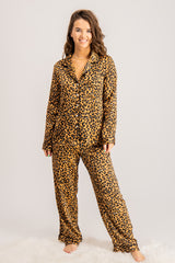Pyjama Set in Leopard Print
