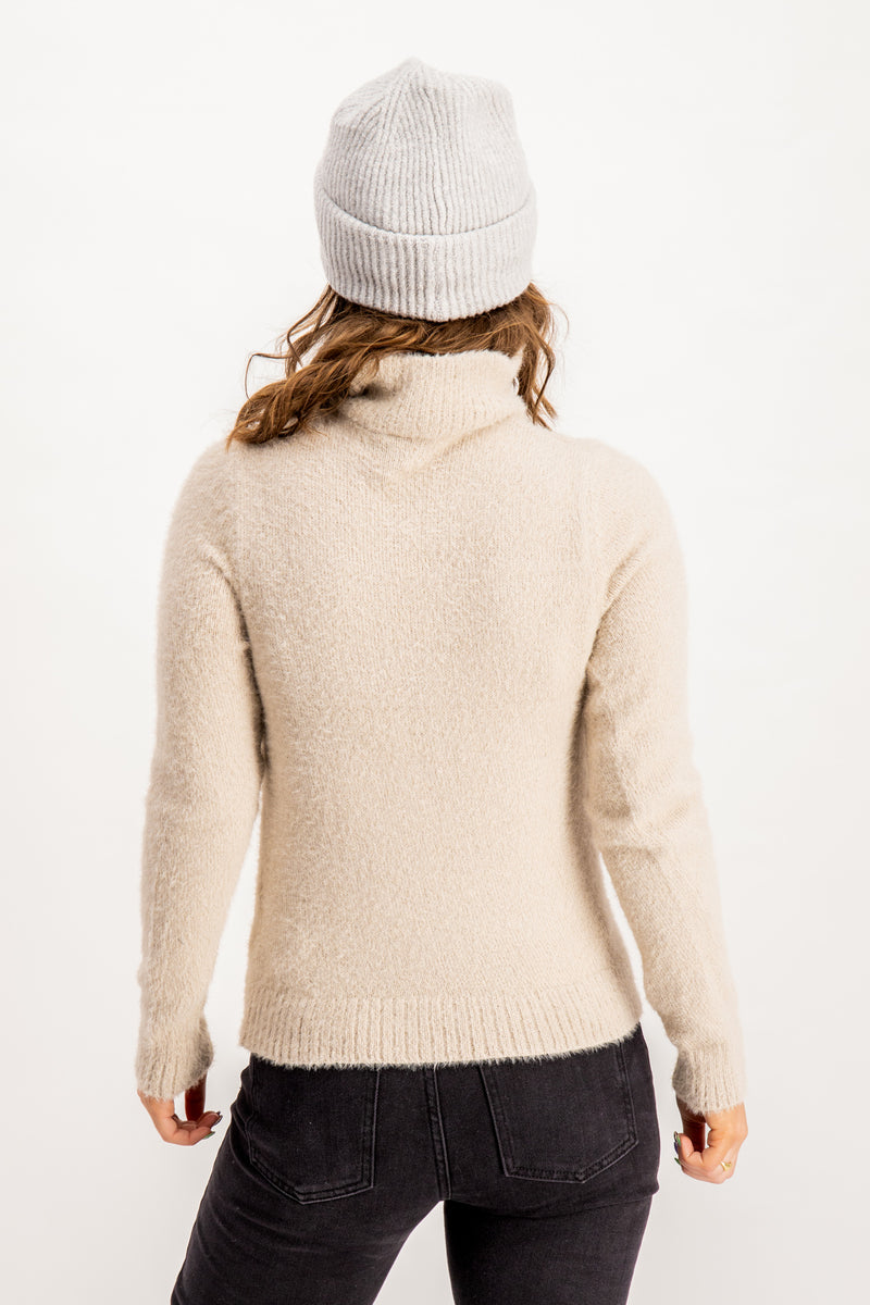 Feami Zip Knit In Cream