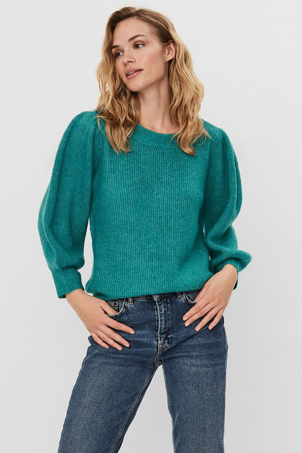 ribbed knit in teal