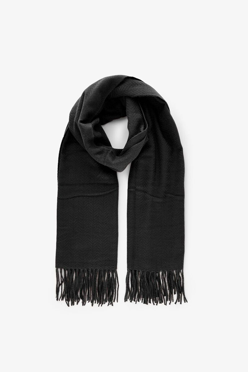 womens long black scarf
