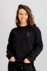 Cara Black Printed Sweatshirt