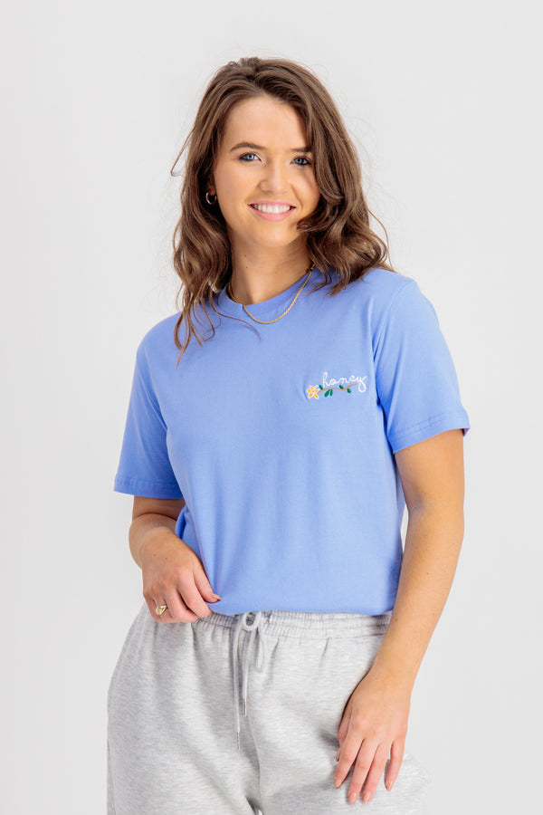 Honey Blue Printed Tee
