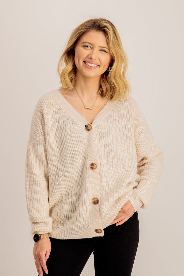 Roxy Cardigan In Cream