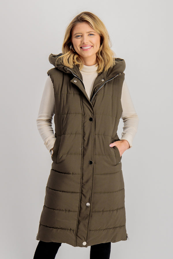 Riley Gilet in Khaki