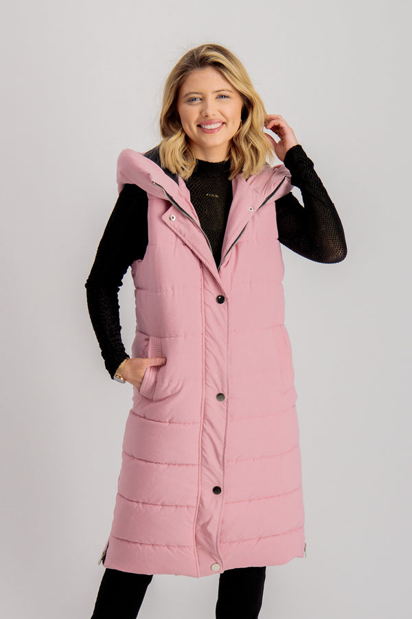 Riley Gilet in Pink