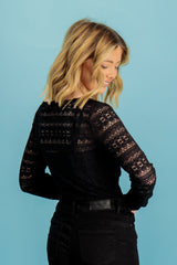 Chikka Black Lace Top