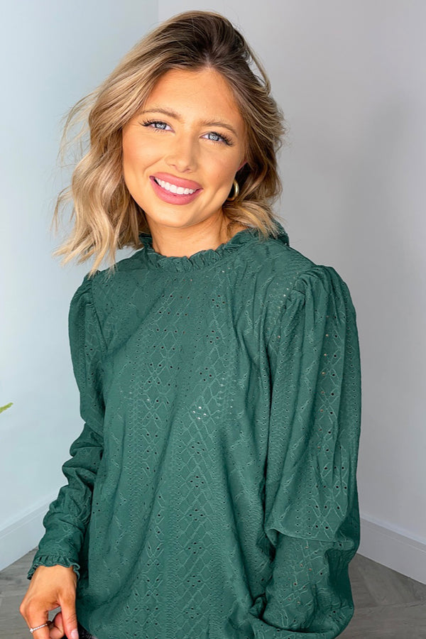 Kathy Green Embroidered Top