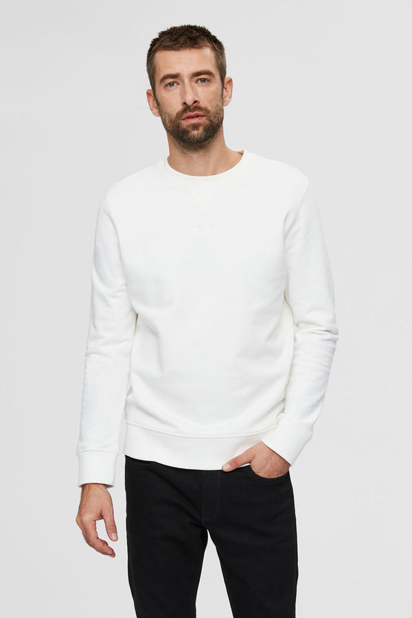 Jason Cream Crew Neck Sweatshirt
